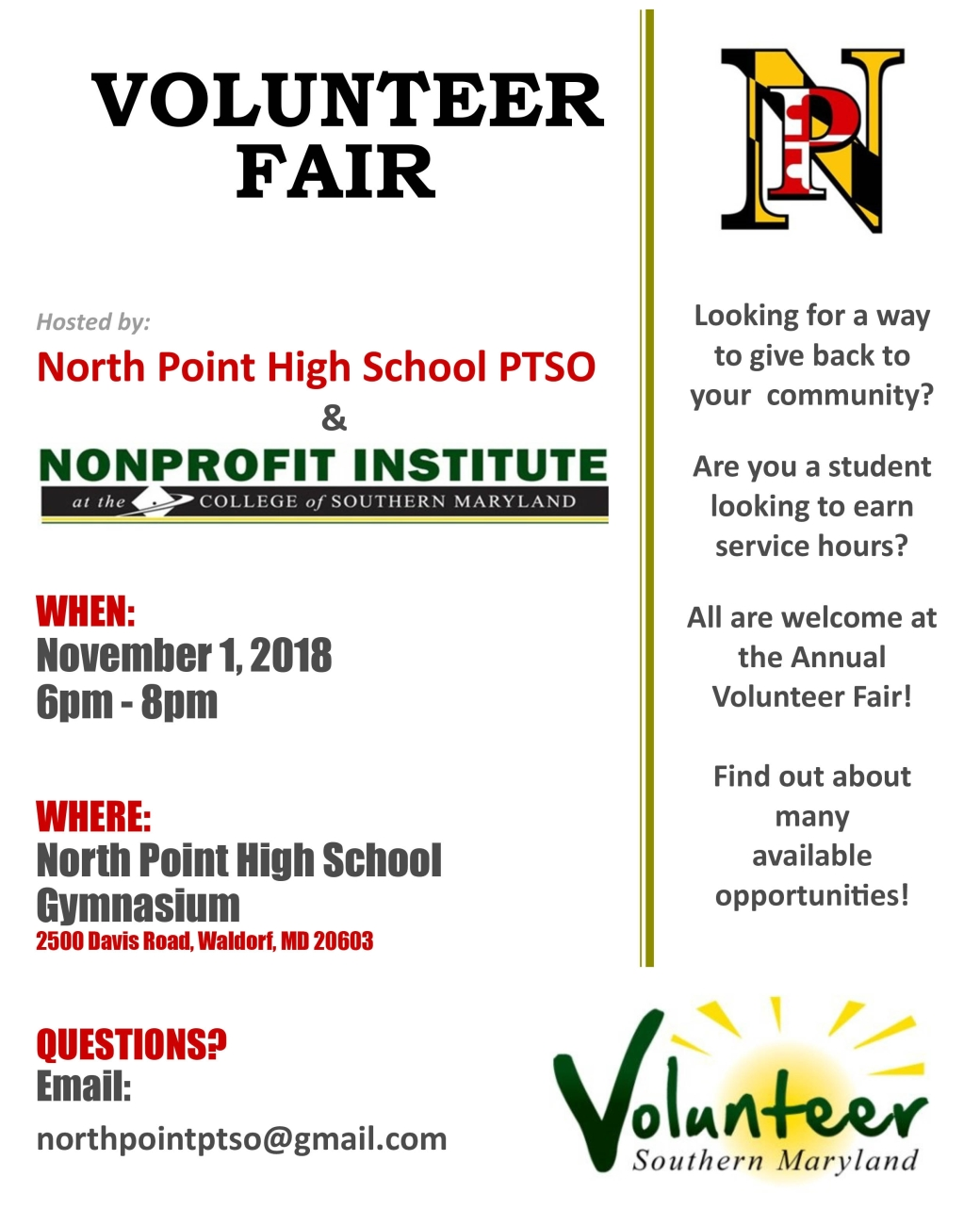 Volunteer Fair for public_Fall 2018 (1)